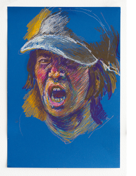 Max_height_self_portrait_snarling_with_hat_ii